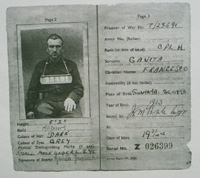 World war II Italian prisoner documents