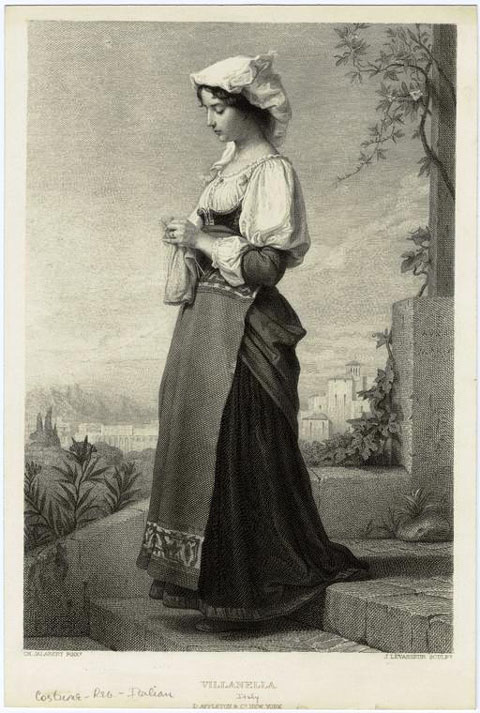Italy date 19th century notes italian traditional dress of the