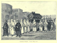 19th century Italian funernal hired mourners