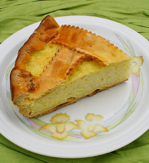 Torta con il Riso (Italian rice and ricotta pie; flavored with Sambuca ...